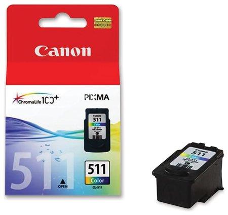 Картридж струйный CANON (CL-511) Pixma MP240/MP260/MP480, цветной, оригинальный, ресурс 244 стр.   Canon