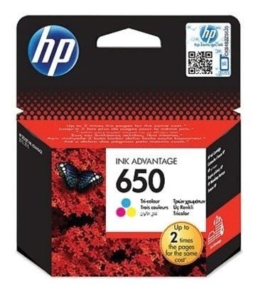Картридж струйный HP (CZ102AE) Deskjet Ink Advantage 2515/2516 №650, цветной, оригинальный  Hp