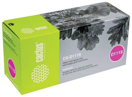 Картридж лазерный Cactus (Cs-d111s) для Samsung Sl-m2020/m2020w/m2070, ресурс 1000 стр.  Cactus
