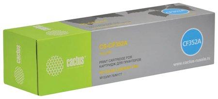 Картридж лазерный Cactus (Cs-cf352a) для Hp Clj M176n/m177fw, желтый, ресурс 1000 стр.  Cactus