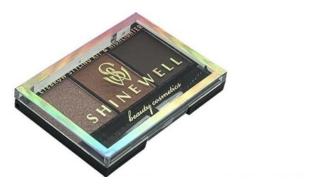 Набор для моделирования бровей с хайлайтером  Shinewell