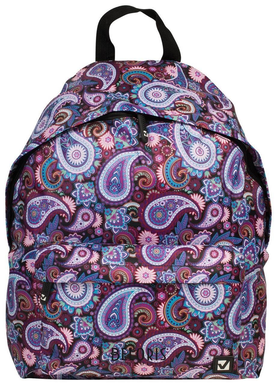 Рюкзак BRAUBERG, универсальный, сити-формат, разноцветный, Инди, 20 литров, 41х32х14 см Brauberg