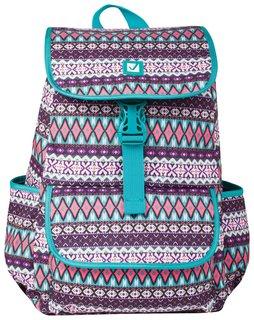"""Рюкзак BRAUBERG для старшеклассников/студентов/молодежи, узоры, """"Ромб"""", 15 литров, 34х25,5х12,5 см"""
