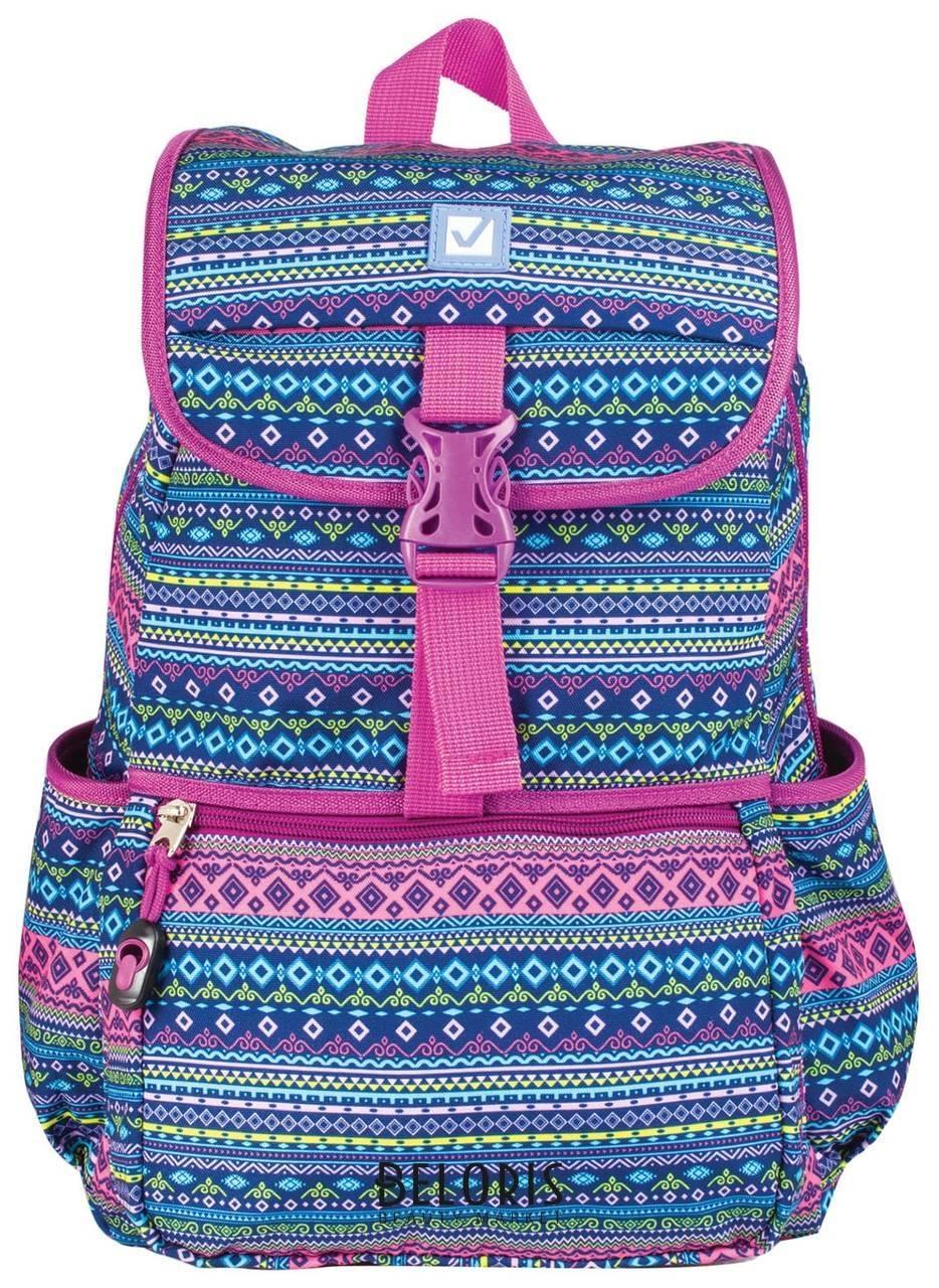 Рюкзак BRAUBERG для старшеклассников/студентов/молодежи, узоры, Орнамент, 15 литров, 34х25,5х12,5 см Brauberg
