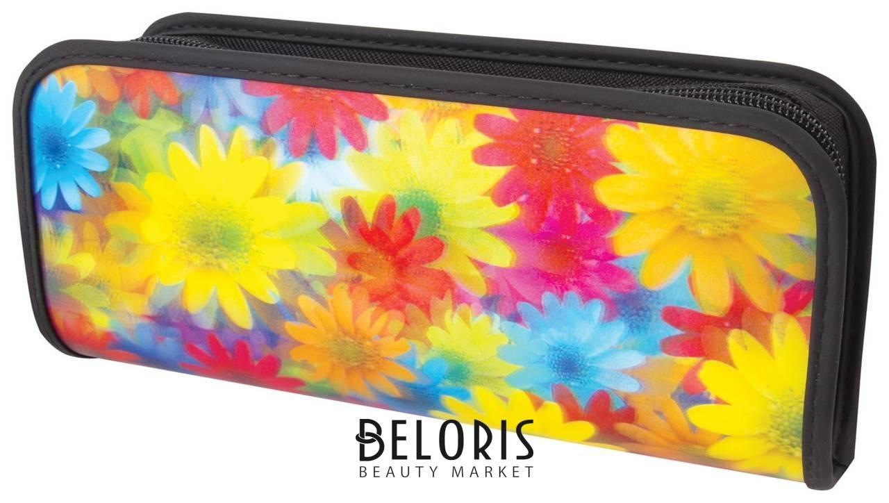 Пенал-косметичка с эффектом 3D Цветы, 22х10х5 см Brauberg