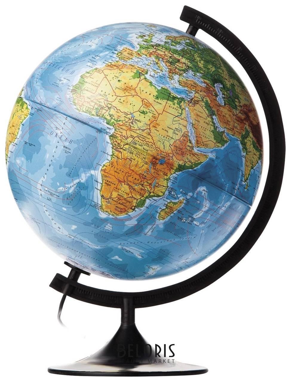 Глобус физико-политический с подсветкой Классик, диаметр 32 см Globen