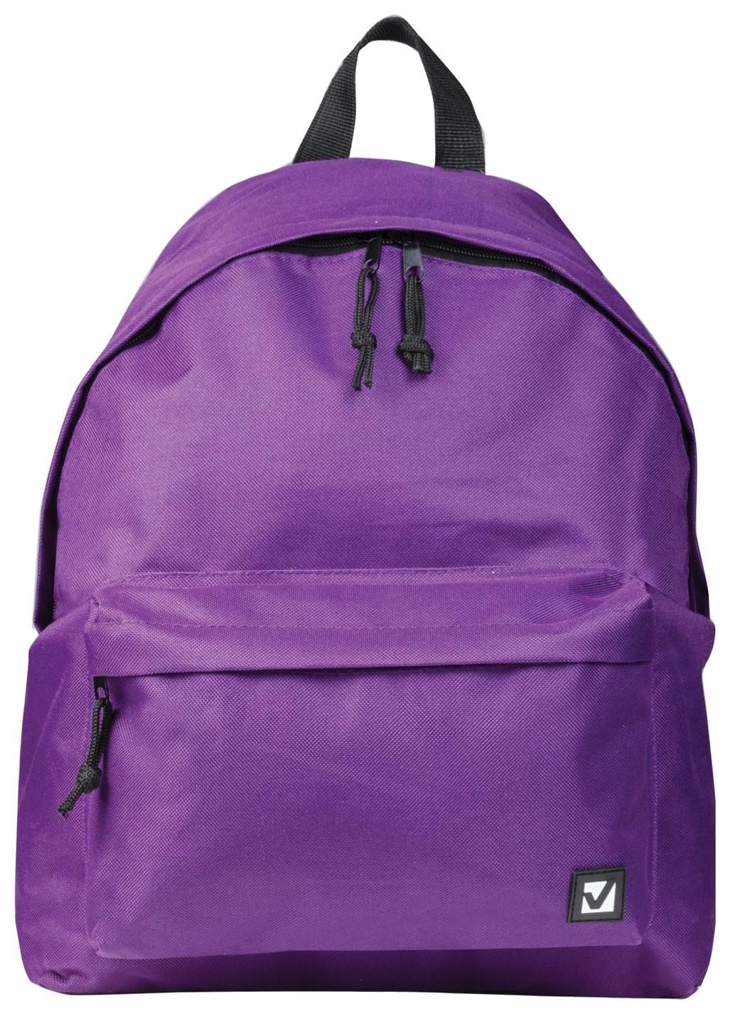 Рюкзак BRAUBERG, универсальный, сити-формат, один тон, фиолетовый, 20 литров, 41х32х14 см  Brauberg