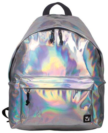 """Рюкзак BRAUBERG универсальный, сити-формат, цвет-серебро, """"Винтаж"""", 20 литров, 41х32х14 см  Brauberg"""