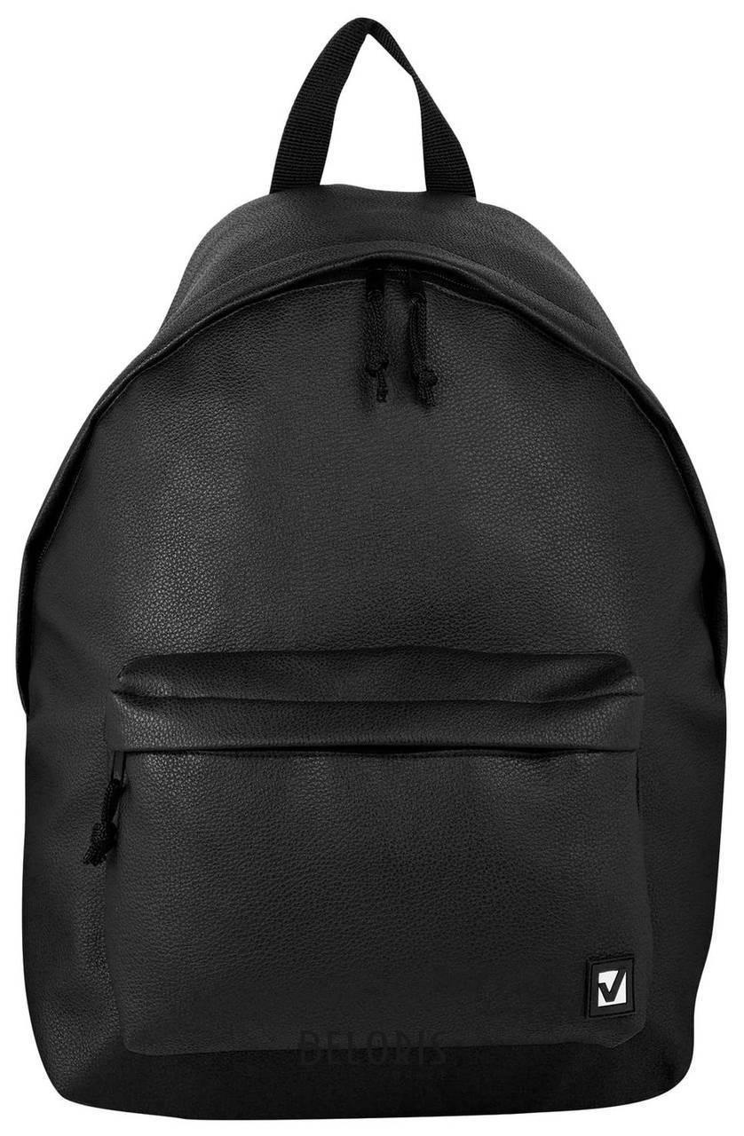 Рюкзак BRAUBERG универсальный, сити-формат, черный, кожзам, Селебрити, 20 литров, 41х32х14 см Brauberg