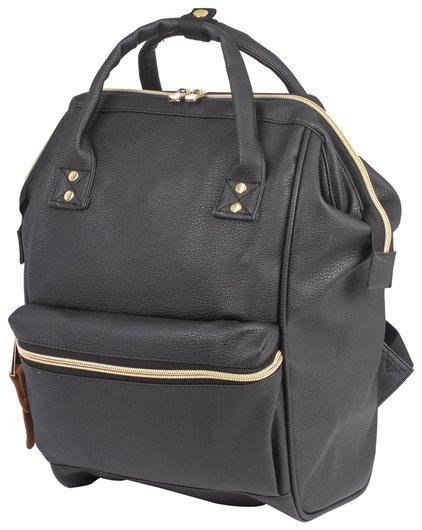 Рюкзак BRAUBERG молодежный, Блэк, искуственная кожа, черный, 34х23х15 см Brauberg