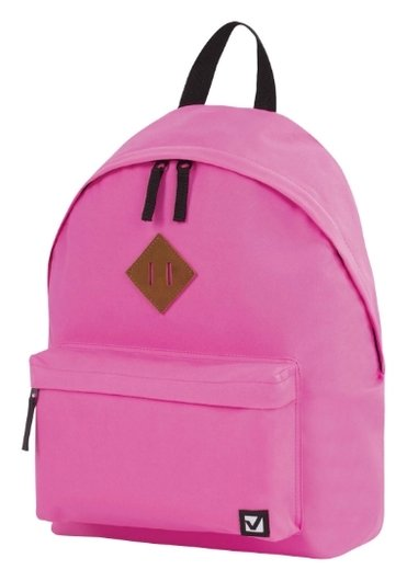 Рюкзак BRAUBERG, универсальный, сити-формат, один тон, розовый, 20 литров, 41х32х14 см  Brauberg