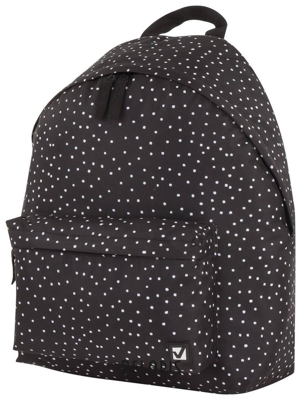 Рюкзак BRAUBERG, универсальный, сити-формат, черный в горошек, 20 литров, 41х32х14 см Brauberg