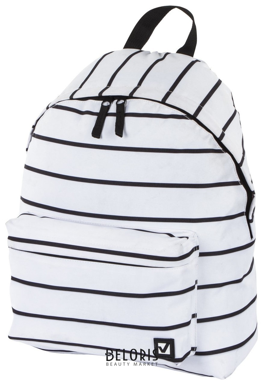 Рюкзак BRAUBERG, универсальный, сити-формат, белый в полоску, 20 литров, 41х32х14 см Brauberg