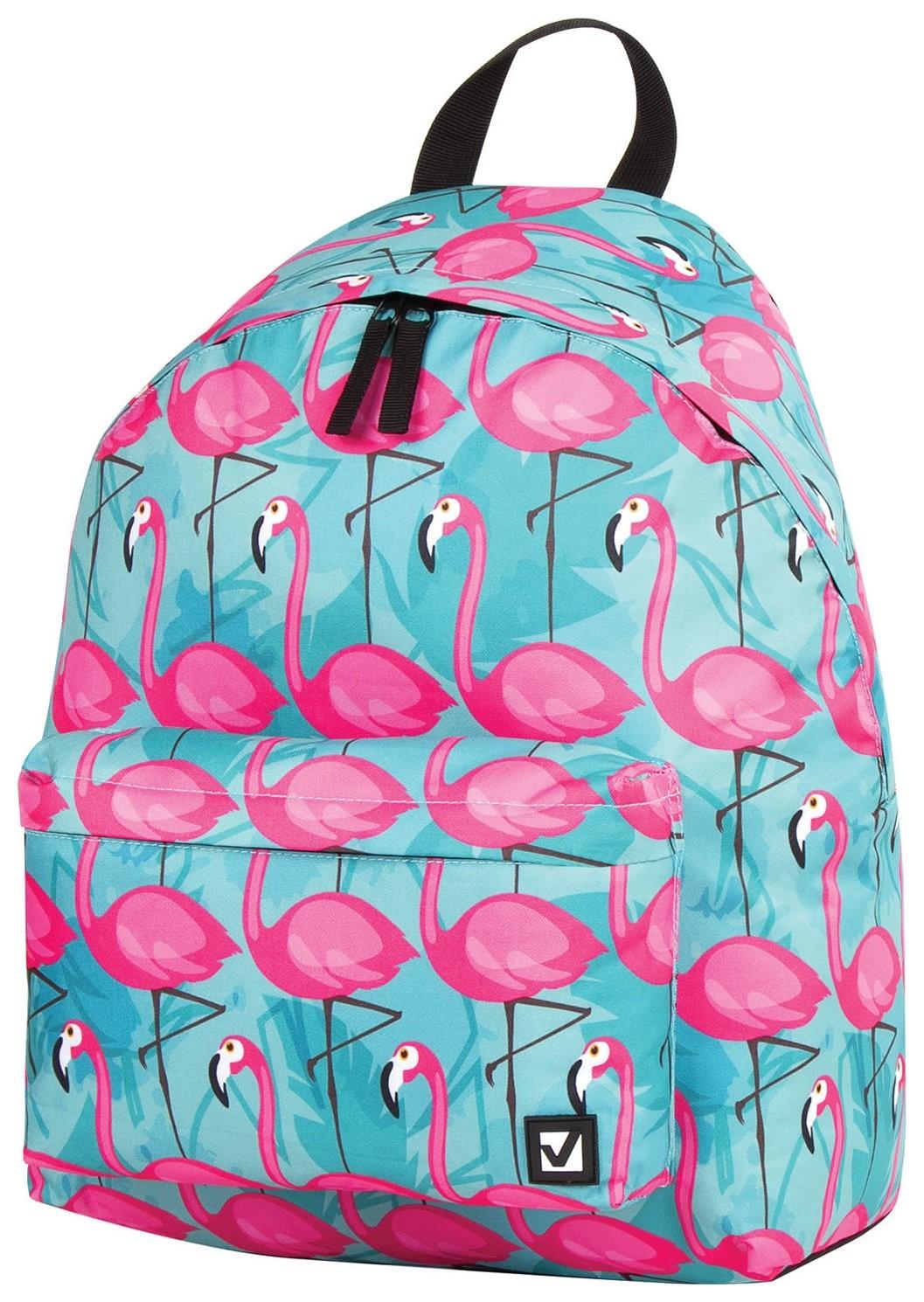 Рюкзак BRAUBERG, универсальный, сити-формат, Фламинго, 20 литров, 41х32х14 см  Brauberg