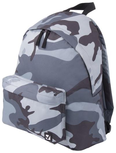 Рюкзак BRAUBERG, универсальный, сити-формат, Серый камуфляж, 20 литров, 41х32х14 см  Brauberg