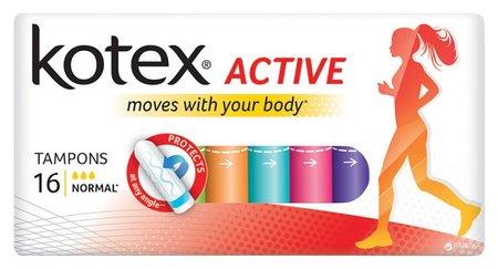 Тампоны гигиенические Active Normal  Kotex
