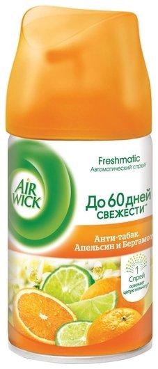 Сменный баллон для освежителя воздуха Анти-табак Апельсин и бергамот Airwick