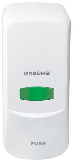 Диспенсер для жидкого мыла ЛАЙМА PROFESSIONAL, наливной, 1 л, белый, ABS-пластик   Лайма