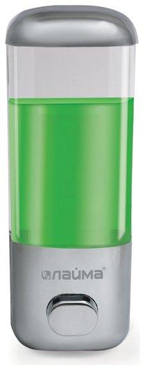 Диспенсер для жидкого мыла ЛАЙМА, наливной, 0,5 л, ABS-пластик, хром   Лайма