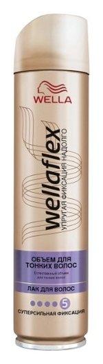 """Лак для волос """"Объем для тонких волос"""" супер-сильной фиксации Wellaflex  Wella Professional"""