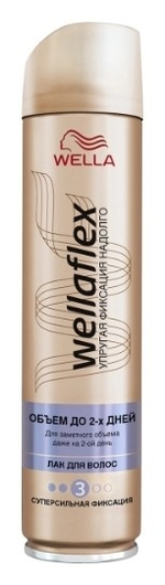 """Лак для волос """"Объем до 2 дней"""" сильной фиксации Wellaflex  Wella Professional"""