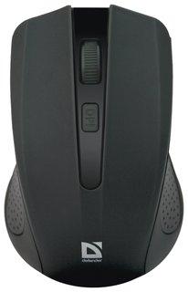 Мышь беспроводная Defender Accura Mm-935, 3 кнопки + 1 колесо-кнопка, оптическая, черная  Defender