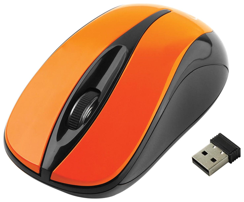 Мышь беспроводная Gembird Musw-325, 2 кнопки + 1 колесо-кнопка, оптическая, оранжевая   Gembird