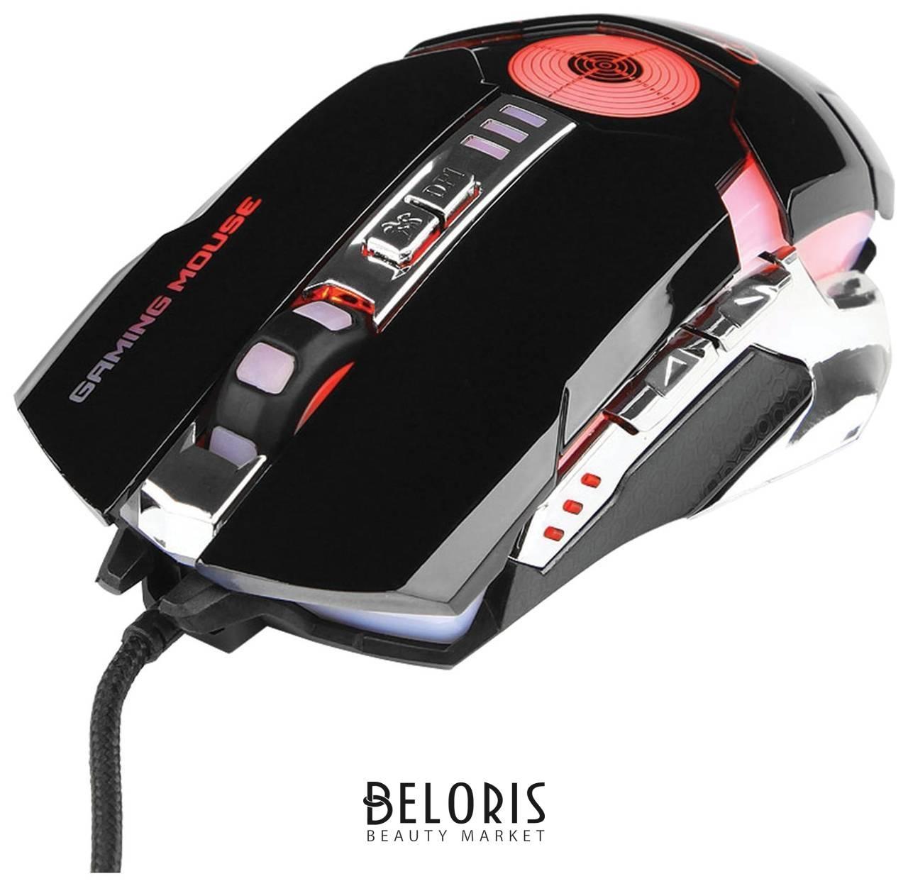 Мышь проводная игровая Gembird Mg-530, Usb, 5 кнопок + 1 колесо-кнопка, оптическая, черная Gembird