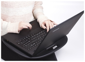 Подставка-столик с мягкими подушками, для ноутбука и творчества Brauberg, 430х330 мм, черный  Brauberg