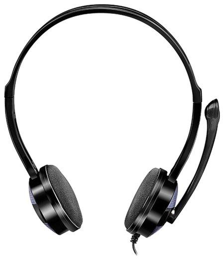 Наушники с микрофоном (гарнитура) SVEN AP-151MV, провод 1,2 м, с оголовьем, черные   Sven