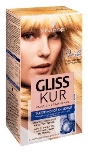 """Стойкий осветлитель для волос """"Уход и увлажнение""""  Gliss Kur"""