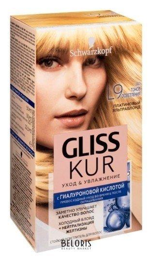 Стойкий осветлитель для волос Уход и увлажнение Gliss Kur