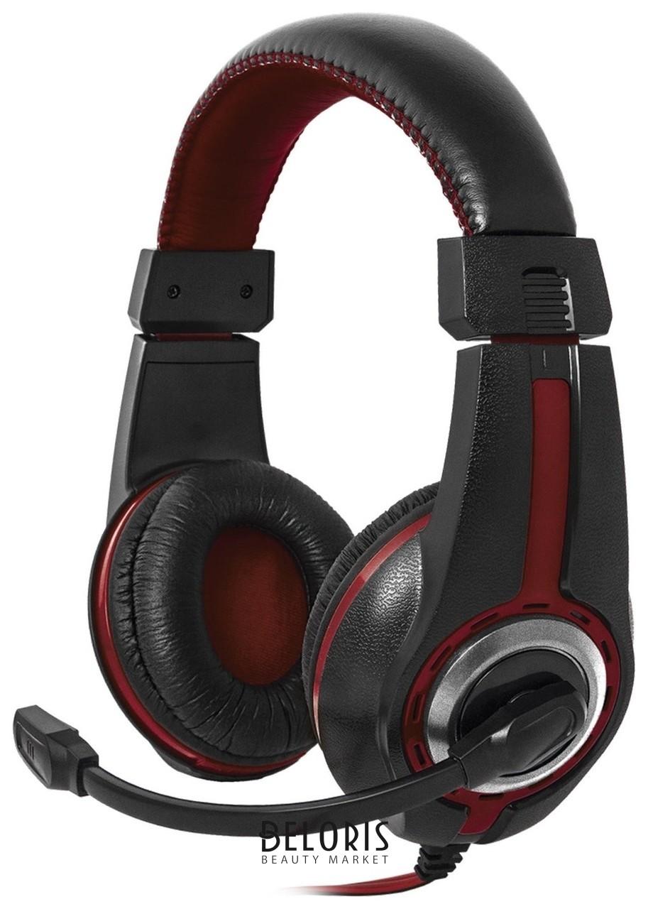 Наушники с микрофоном (гарнитура) DEFENDER Warhead G-185, проводные, 2 м, стерео, чёрно-красные  Defender