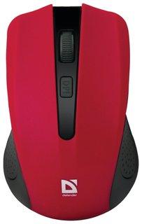 Мышь беспроводная DEFENDER Accura MM-935, 3 кнопки + 1 колесо-кнопка, оптическая, красная  Defender