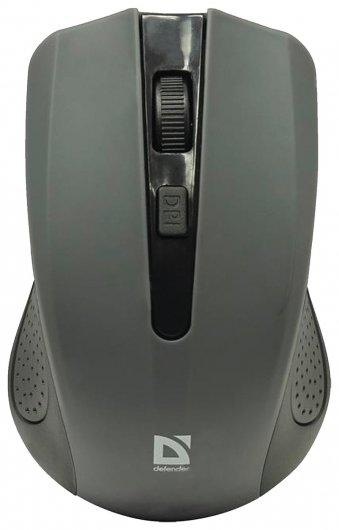 Мышь беспроводная DEFENDER Accura MM-935, 3 кнопки + 1 колесо-кнопка, оптическая, серая   Defender