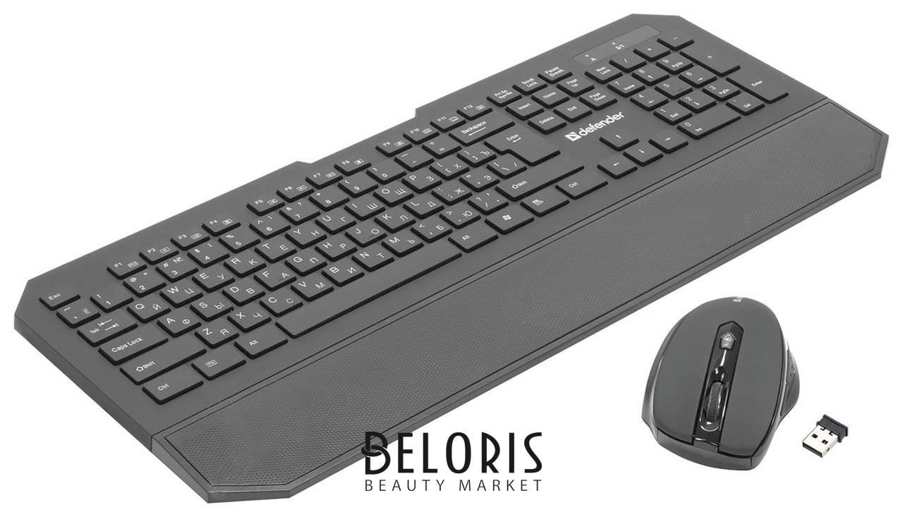 Набор беспроводной DEFENDER Berkeley C-925, клавиатура, мышь 5 кнопок + 1 колесо-кнопка, черный Defender