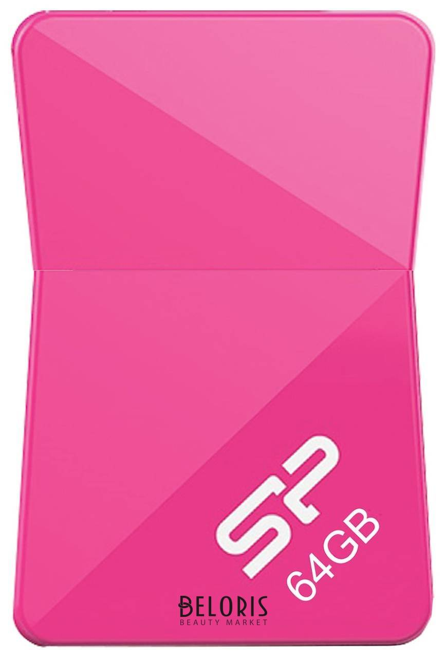 Флэш-диск 64 GB SILICON POWER Touch T08 USB 2.0, розовый  SP