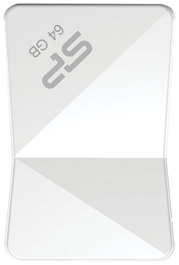 Флэш-диск 64 GB, SILICON POWER Touch T08, USB 2.0, белый   Silicon power