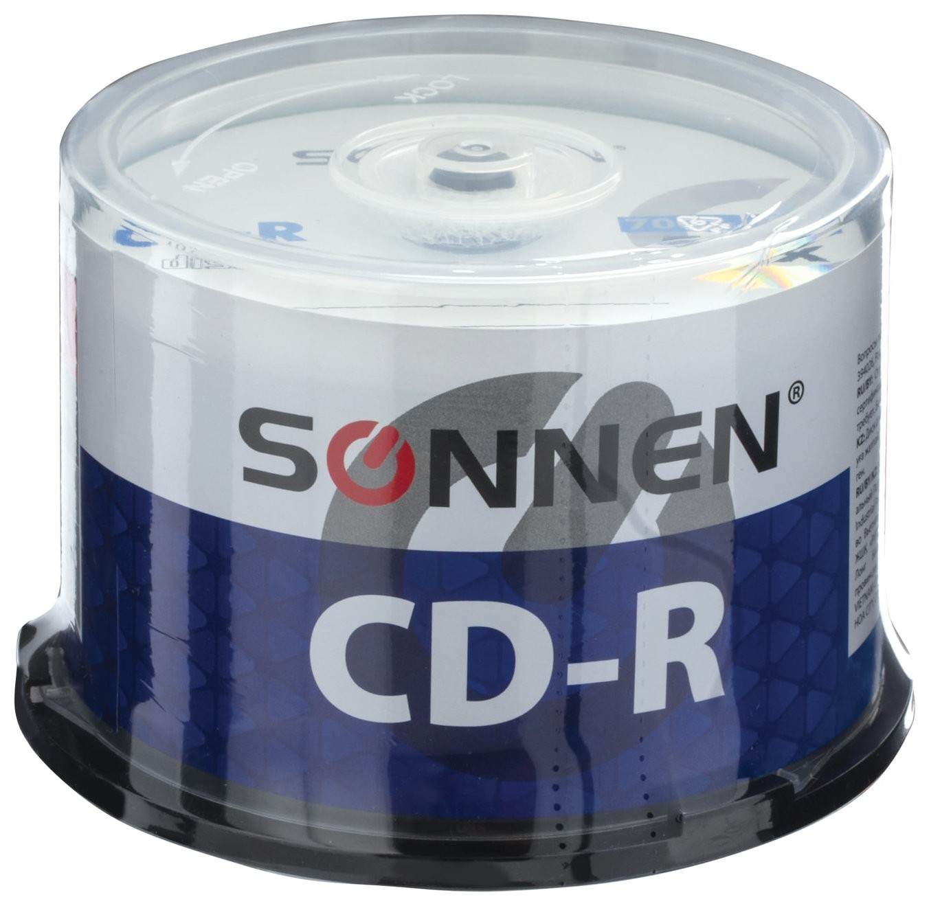 Диски CD-R SONNEN 700 Mb 52x Cake Box, комплект 50 шт.  Sonnen