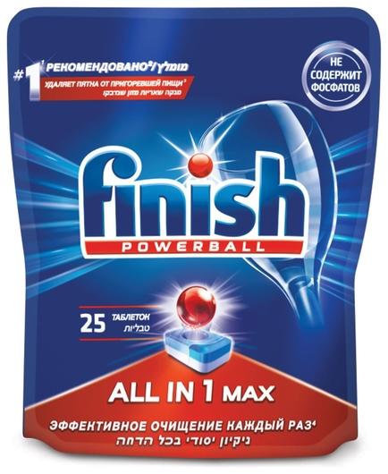 Таблетки для посудомоечных машин All in 1  Finish