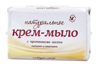 Крем-мыло с протеинами шелка Натуральное  Невская косметика