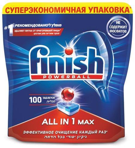 Таблетки для мытья посуды в посудомоечных машинах All in 1  Finish