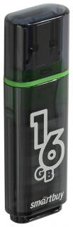Флэш-диск 16 GB, SMARTBUY Glossy, USB 2.0, черный   Smartbuy