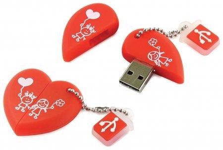 "Флэш-диск сувенирный 16 GB, SMARTBUY Wild ""Сердце"", USB 2.0   Smartbuy"