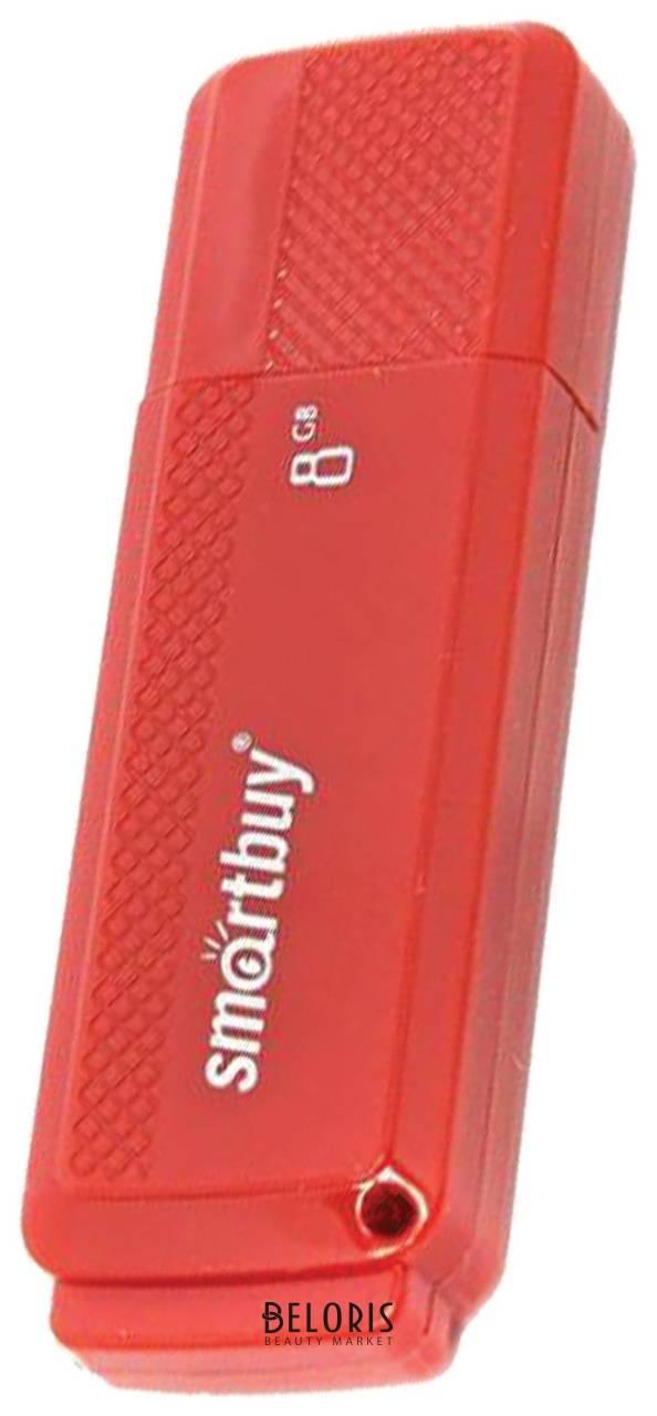 Флэш-диск 8 GB, SMARTBUY Dock, USB 2.0, красный  Smartbuy