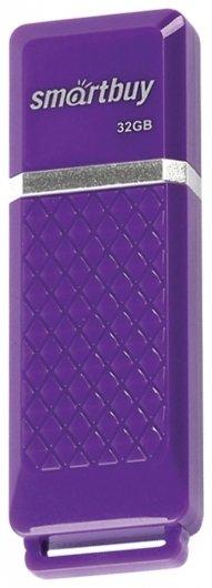 Флэш-диск 32 GB, SMARTBUY Quartz, USB 2.0, фиолетовый   Smartbuy