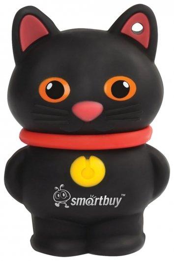 """Флэш-диск сувенирный 16 GB, SMARTBUY Wild """"Котенок"""", USB 2.0, черный   Smartbuy"""