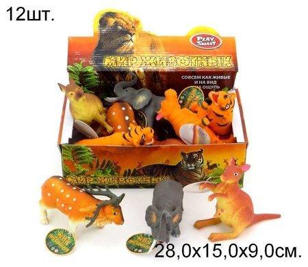 Животное-тянучка Дикое, 6 видов  Play Smart (Joy Toy)