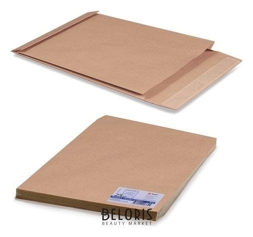 Конверт-пакеты Е4+ объемный (300х400х40 мм) до 300 листов, крафт-бумага, отрывная полоса, комплект 25 шт.  Курт