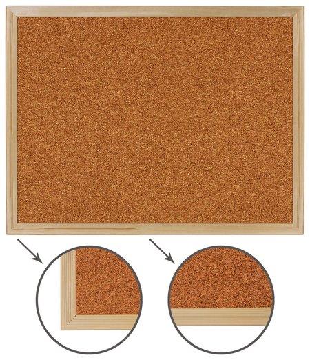 Доска пробковая для объявлений (45х60 см), деревянная рамка, BRAUBERG  Brauberg